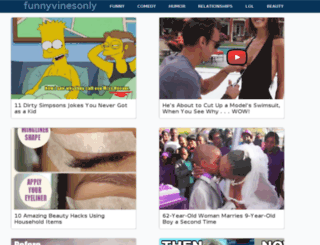funnyvinesonly.com screenshot