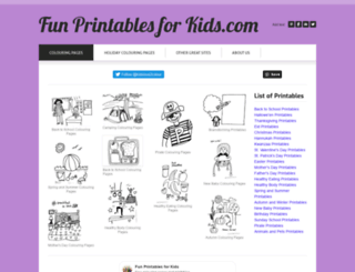 funprintablesforkids.com screenshot