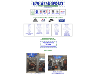 funwearsports.com screenshot