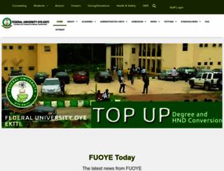 fuoye.edu.ng screenshot