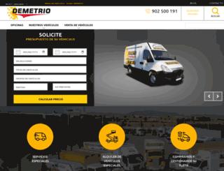 furgonetasdemetrio.com screenshot