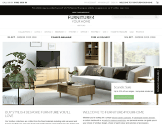 furniture4yourhome.co.uk screenshot
