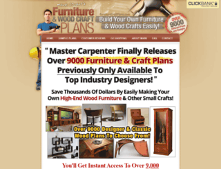 furniturecraftplans.com screenshot