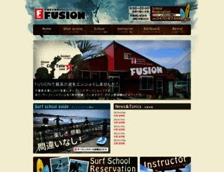 fusion-surf.jp screenshot