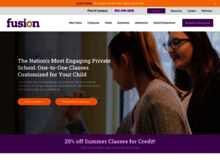 fusionacademy.com screenshot