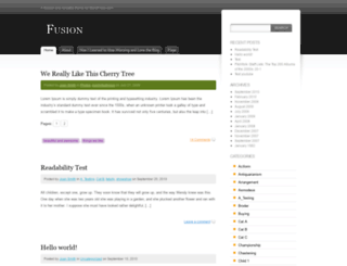 fusiondemo.wordpress.com screenshot