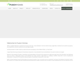 fusionhomes.in screenshot