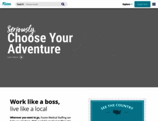 fusionmedstaff.com screenshot