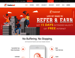 fusionnet.in screenshot