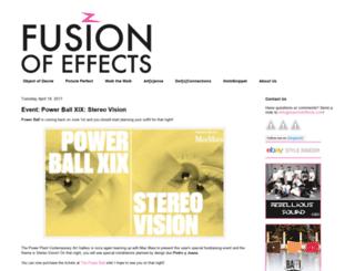 fusionofeffects.blogspot.com screenshot
