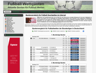 fussball-quoten.info screenshot