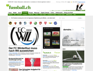 fussball.ch screenshot
