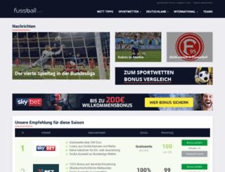 fussball.com screenshot