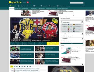 fussballdaten.sport.de screenshot