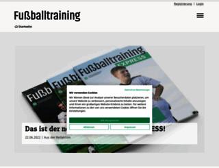 fussballtraining.com screenshot