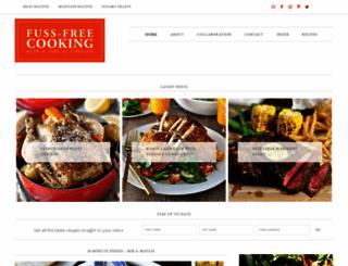 fussfreecooking.com screenshot