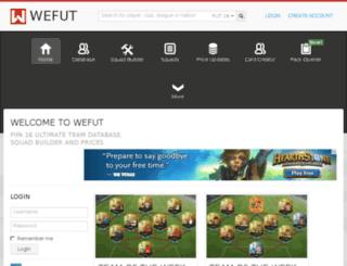 fut14.wefut.com screenshot