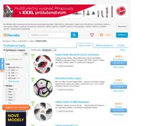 futbalove-lopty.heureka.sk screenshot