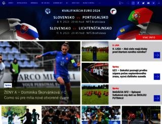 futbalsfz.sk screenshot