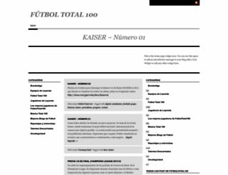 futboltotal100.wordpress.com screenshot