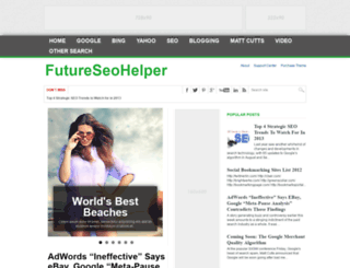 futureseohelper.blogspot.com screenshot