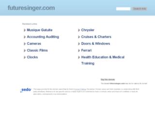 futuresinger.com screenshot