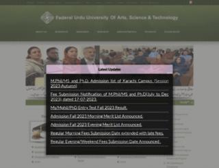 fuuast.edu.pk screenshot