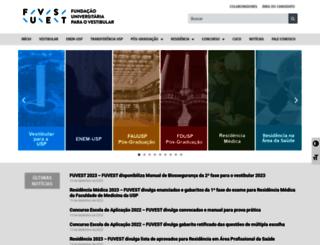 fuvest.com.br screenshot