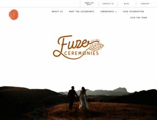 fuzeceremonies.co.uk screenshot