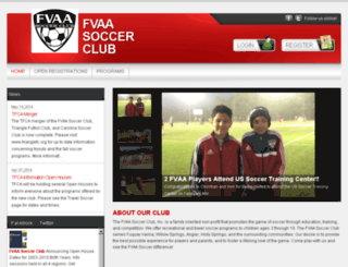 fvaasoccer.com screenshot