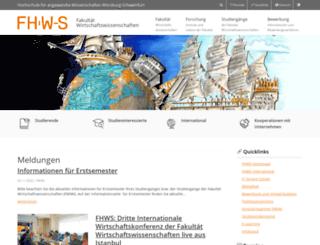 fwiwi.fhws.de screenshot
