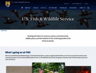 fws.gov screenshot