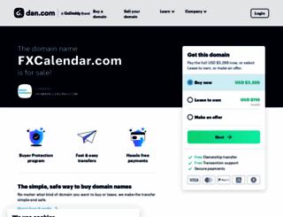 fxcalendar.com screenshot