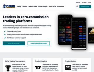 fxcm.com screenshot