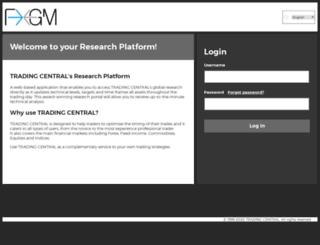 fxgm.tradingcentral.com screenshot