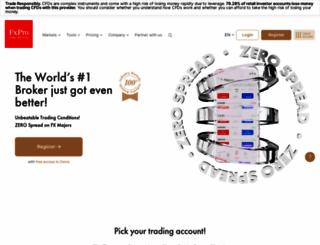 fxpro.com screenshot