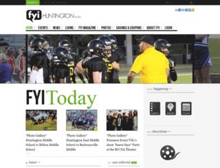 fyihuntington.com screenshot