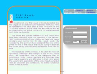 fyjcresult.com screenshot