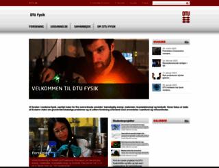 fys.dtu.dk screenshot