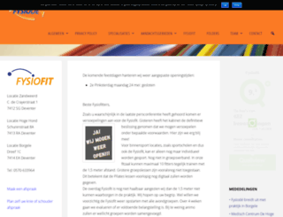 fysiode.nl screenshot