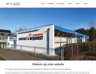 fysiotherapielankforst.nl screenshot