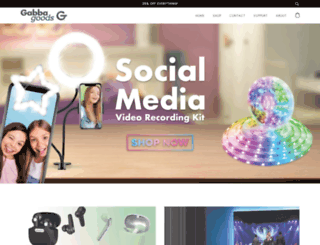 gabbagoods.com screenshot