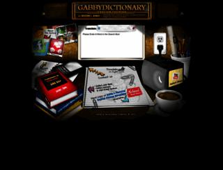 gabbydictionary.com screenshot
