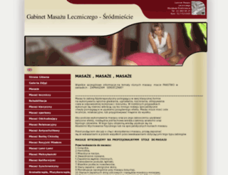 gabinetmasazu.net screenshot