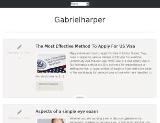 gabrielharper.com screenshot