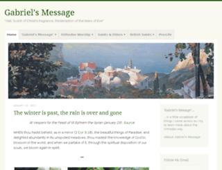 gabrielsmessage.wordpress.com screenshot