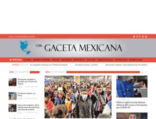 gacetamexicana.com screenshot