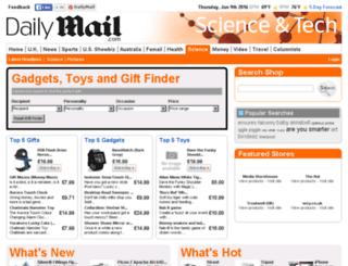 gadgetsgiftstoys.mailonline.co.uk screenshot