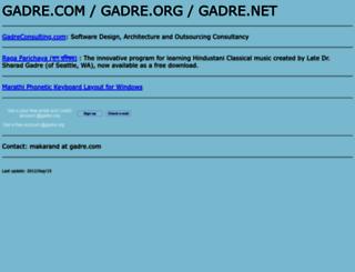 gadre.com screenshot