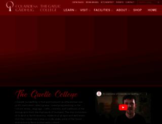 gaeliccollege.edu screenshot